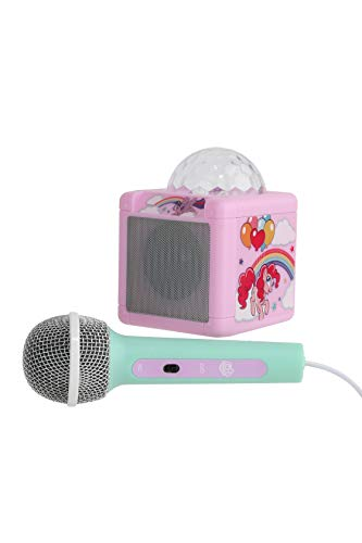 My Little Pony Handheld Karaoke Machine | Fun Karaoke Microphone for Kids & Teens, Fantastic Girl Toy, Smartphone and MP3 Microphone, Built-in AUX Cable