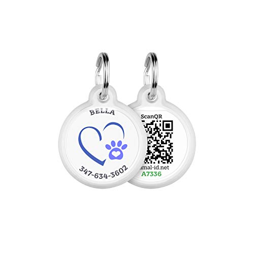 Animal ID QR pet tag - Together Forever - Pet Tags Personalized for Cats and Dogs - Dog ID Tags Personalized for Your Pet with The GPS Location - QR Code Dog Tag with Online Pet Profile