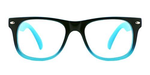 TIJN Brillen Brillengestell für Kinder Korrekturbrillen Klare Linse für Jungen und Mädchen von 6-12 Jahren