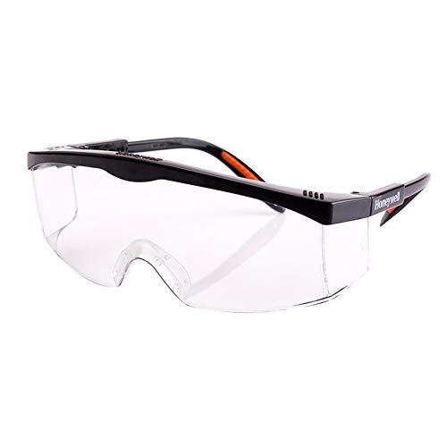保護メガネ 曇り止め ソフトな鼻パッド 軽量 鏡足の長さは4段に伸縮できます UVカット 花粉症対策 衝撃を防ぐ 作業用 自転車通勤 男女兼用 (透明)
