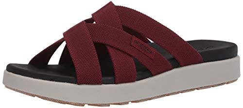 KEEN Women's ELLE Slide Sandal, Red, 10.5