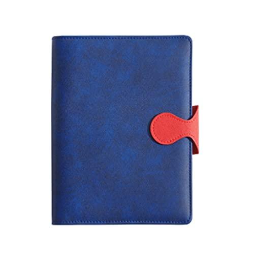 A5 Negocio Notebook Libro de trabajo Libro de trabajo Exquisito Diario Espesado Oficina Flow-Hoja Cuaderno Hand Libro Libro Libro de trabajo Cuaderno (Color : Royal blue)