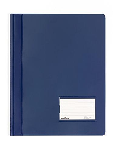 DURABLE Hunke & Jochheim Schnellhefter DURALUX®, transluzente Folie, für A4 Überbreit, 280x332mm, d.blau