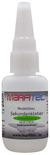marfitec© Modellbau Sekundenkleber 20g mittelflüssig - Metall Nadelverschluss