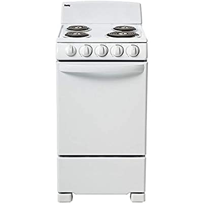 Danby 20-in. Electric Range with Coil Elements and 2.3-Cu. Ft. Oven Capacity in White