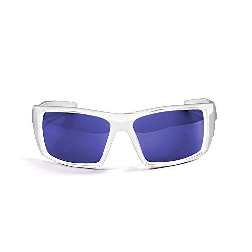 Ocean Sunglasses Aruba - Gafas de Sol polarizadas - Montura : Blanco Brillante - Lentes : Azul Espejo (3201.2)