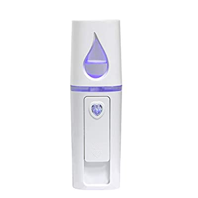 UrChoice Cool Mist Facial Handy Mist Sprayer with Mirror, Moisturizing and Hydrating for Skin Care, Makeup, and Eyelash Extensions