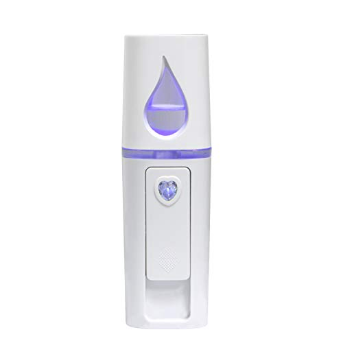 Nano Facial Mister, UrChoice Cool Mist Facial Steamer Handy Mist Sprayer with Mirror Design on Top, Moisturizing and Hydrating for Skin Care, Makeup, Eyelash Extensions