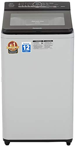 Panasonic 6.7 kg Built-in Heater Fully-Automatic Top Loading Washing Machine (NA-F67AH8MRB,Middle free silver, Advanced Active...