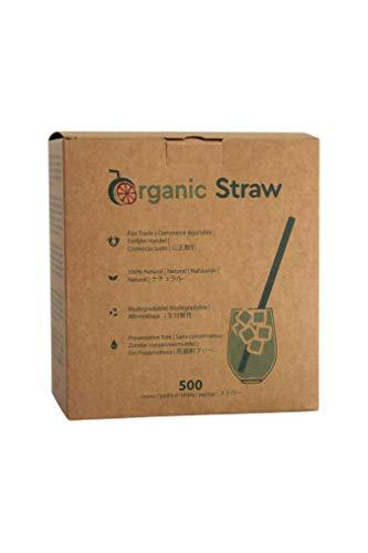 BIOWINK - Cannucce vegetali Organic Straw, 16 cm, confezione da 500