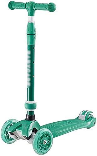ETHTC Größer Kinder-Roller, 3-in-1-Roller, PU-Blitzrad-Sto mpfung Und Ger chminderung, Intelligentes Lenksystem, Geeignet Für Kinder Im Alter Von 2-14 (Größe   Single Board Block)