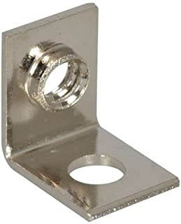 Keystone 634 Universal Mounting Bracket, Threaded Hole, Right Angle, Brass, Nickel Plating (Pack of 10)