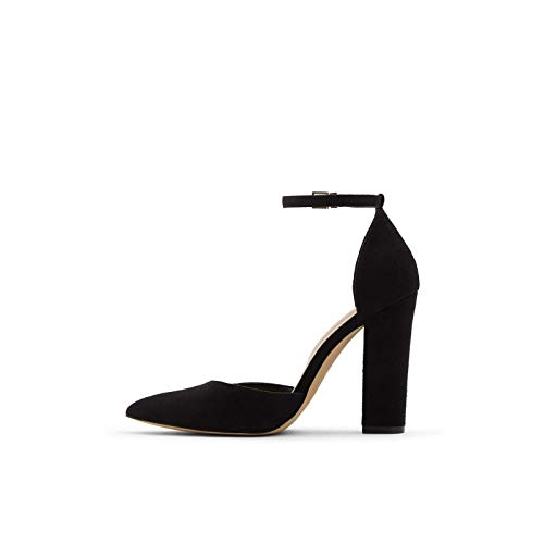 ALDO Women's Nicholes Block Heel Pumps, Black Other, 8