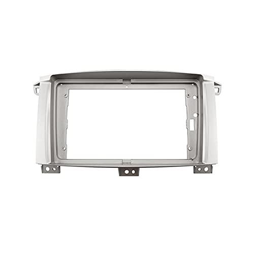 fangyuan 9 pulgadas 2DIN Adaptador de marco de fascia de radio de audio para automóvil DVD Player Dash Fitting Panel Frame Fit para Toyota Land Cruiser 2003-2008