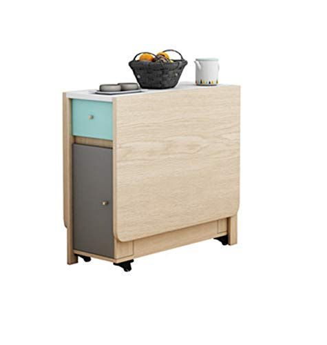YLJY Mesas y sillas Plegables. La Mesa Plegable se Puede almacenar en la Mesa de Madera Rectangular Rectangular Mesa multifunción y una Mesa Plegable de combinación (Color : Single Table)