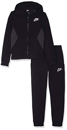 Nike Jungen B NSW BF CORE Tracksuit, Black/Anthracite/White, XS