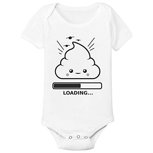 Spruchreif24de Baby Body Strampler Emojie Shit Loading Geschenk Idee Geburt (3-6 Monate)