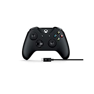 Microsoft Xbox Black Wireless Controller, with Cable for Windows PC (B01N468FYS) | Amazon price tracker / tracking, Amazon price history charts, Amazon price watches, Amazon price drop alerts