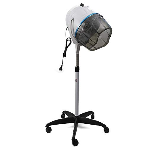 950W Trockenhaube,Professionelle Haartrockner Trockenhaube mit Standfuß,Höhenverstellbar,für Friseursalons (Weiß)