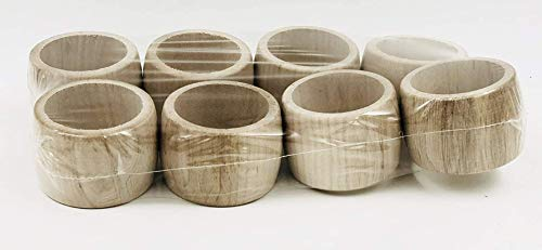 MGI Developpment Traditional French Crafts Set of 8 Napkin Rings, Made in France, Jura Unfinished Wood (Leave Unfinished or Personalise Them)