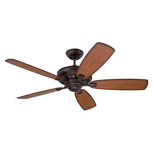 kathy ireland HOME Carrera Grande Eco Ceiling Fan Fixture with 6-Speed Wall Control and Downrod  ...