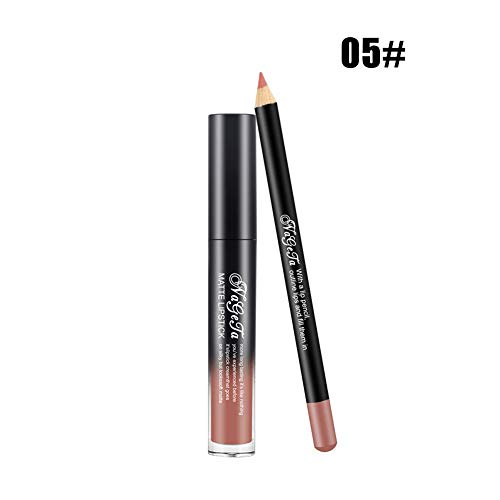 Switty 2ST Multi Lip Gloss & Lippe Liner Set Long Lasting Lippenstift Wasserdicht Matte Flüssiges...