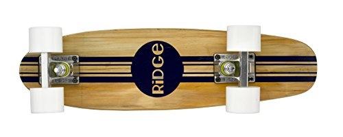 Ridge Retro Skateboard Mini Cruiser, weiß, 22 Zoll, WPB-22