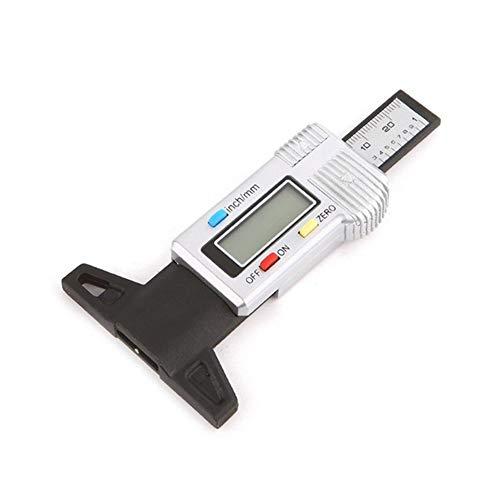 ISAKEN Medidor De Profundidad Digital con Pantalla LCD,0-25,4 mm / 1 Pulgada Medidor De Profundidad De Los Neumáticos Digital, para Camiones Coches Furgonetas