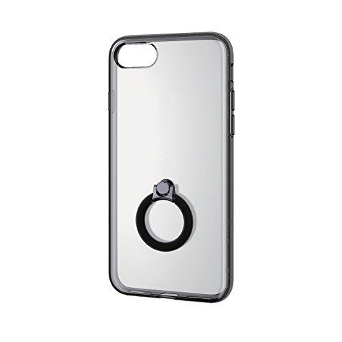 エレコム iPhone8/ハイブリッドケース ハイブリッドリング付 ブラック PM-A17MHVCRBK 1個 ELECOM