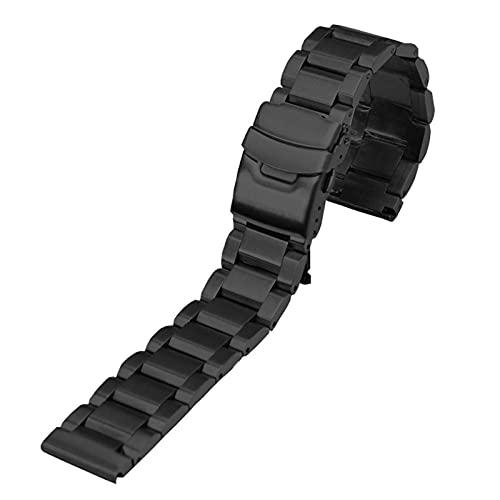 ZXF Correa Reloj, Pulsera de Banda de Reloj de Acero Inoxidable 18 20 22 24 mm Metal Reloj de Reloj de Reloj Relojamiento rápido Pulsera de Metal Correa Accesorios (Color : Negro, Size : 20mm)