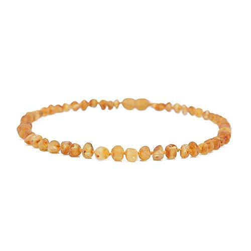 PicZhiwenture Halskette Anhänger Schlüssel beinkette Kette Baltic Amber Kinderkrankheiten Halskette/Armband für Baby - Einfache Packung 10 Farben - Lab Tested-H