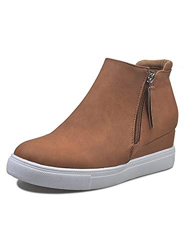 Zapatos de mujer con plataforma, con cremallera lateral, color sólido, zapatos bajos, color, talla 40 EU