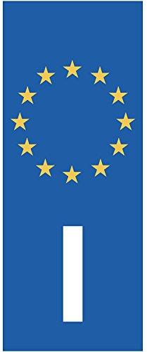 Sticker Vertikal Kennzeichen Italien