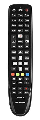 Meliconi Telecomando per TV PHILPS, Personal 4 Plus, Pronto all'uso, non necessita di programmazione, Nero
