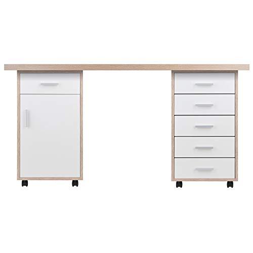 Winsome Wood Kenner Desk set, Reclaimed Wood