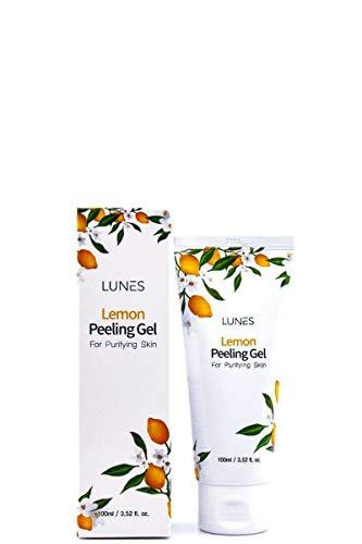 US in Stock LUNES Lemon Peeling Gel Moisture Natural Purifying Skin Korean Makeup Cosmetics Same Day Shipping 3.52oz.(100ml)