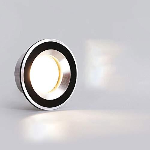 Hines Foco LED Luces De Techo Empotradas De Aluminio 3W / 5W Creatividad Industrial Downlight Mini Luz Decoración De Lujo Panel Lámpara Dormitorio Mesita De Noche Panel De Techo Luz