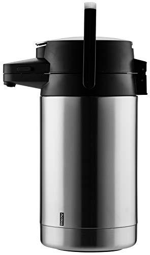 Helios Pump-Isolierkanne Coffeestation, 2,5 Liter, Edelstahl, Einhandbedienung
