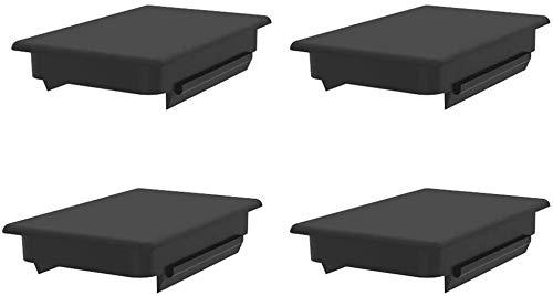 JOYTUTUS Stake Pocket Cover Trucks Bed Rail Post Hole Black