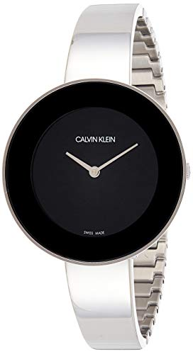 Calvin Klein Damen Analog Quarz Uhr mit Edelstahl Armband K7N23C41