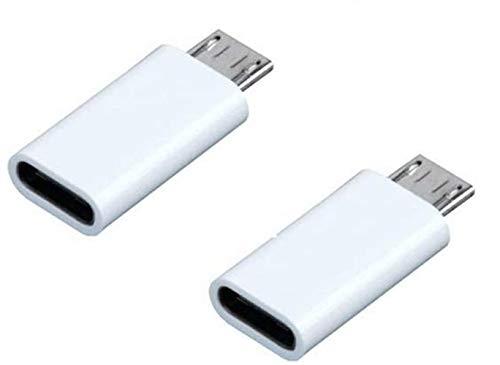 2 Pack Adattatore convertitore da tipo C femmina a Micro USB maschio per telefoni cellulari