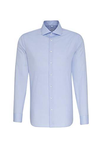 Seidensticker Herren Business Hemd Slim Fit – Bügelleichtes Businesshemd, Blau (Hellblau 11), (Herstellergröße: 38)