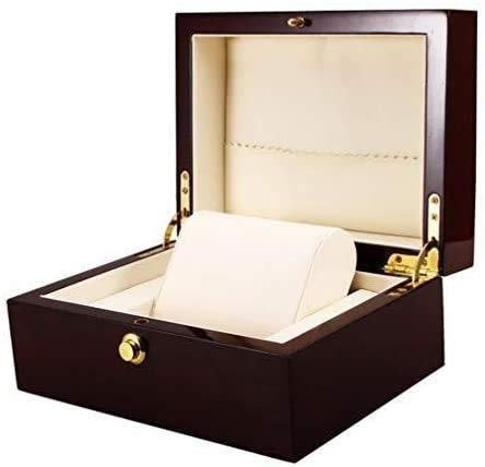 Gymqian Wooden Watch Box Watch Case Storage Boxes and Storage Cushions for Removing Gift Box for Men Women Watch Exquisite
