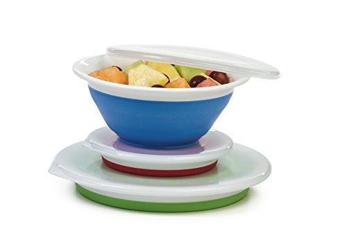 Progressive Prepworks Thinstore Collapsible PrepStorage Bowls with Lids - Set of 3