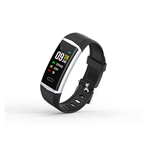 FFF8 Smart Watch Men Women Heart Rate Monitor Monitor Srought Passion Fitness SmartWatch IP68 Sport Watch para iOS Android (Color : Black)