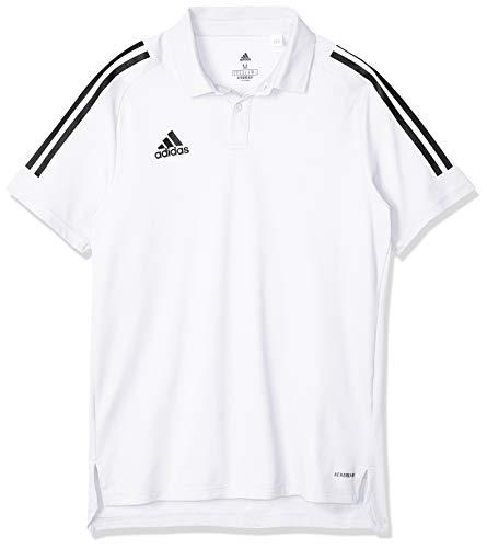 adidas Mens CON20 Polo Shirt, White/Black, XX-Large