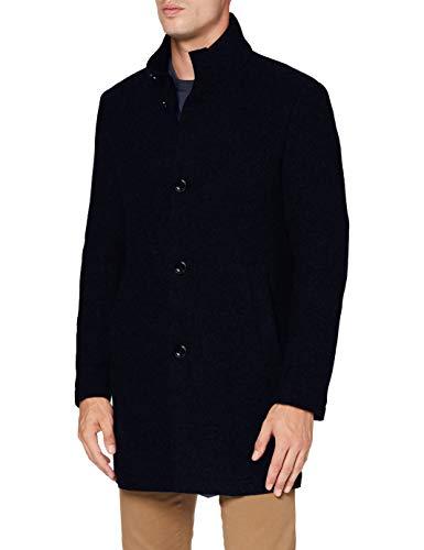 Strellson Premium Herren Finchley Wollmantel, Dark Blue 401, 50