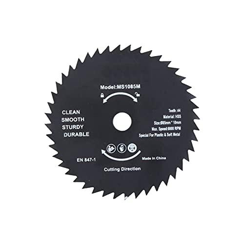 kengbi Ruedas de corte de diamante, 1 pieza de 85 mm 72T HSS mini sierra circular disco de corte para herramientas de trabajo de madera y metal (diámetro del agujero: 10 mm, diámetro exterior: 85 mm)
