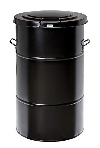 Afvalbak vuilnisbak 115 l | Afvalbak retro design zonder voetpedaal – gemaakt van gegalvaniseerd plaatstaal