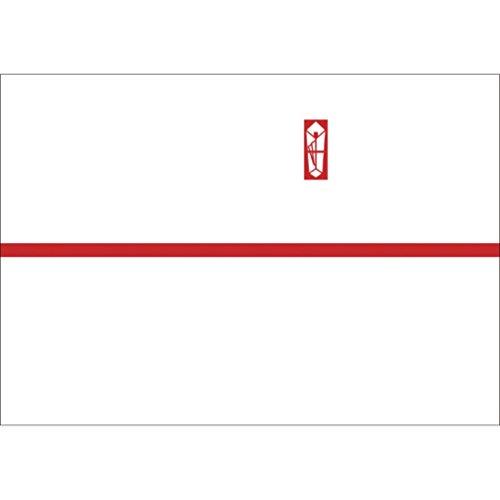 ササガワ OA対応のし紙 熨斗紙 豆判5号 赤棒 京 2-675 1セット 1000枚:100枚×10冊